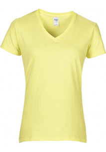 Premium Cotton Ladies' V-Neck T-shirt T-shirt de senhora Premium decote em V