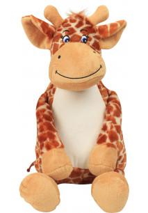 Girafa de peluche com fecho