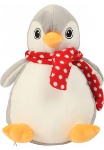 Pinguim de peluche com fecho