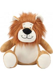 Leão de peluche com fecho