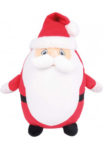 Pai Natal de peluche com fecho