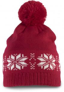 Gorro tricotado, motivo estrela
