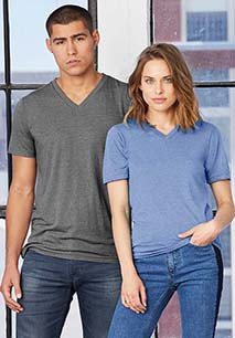 T-shirt Triblend unissexo decote V