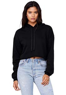 "Sweatshirt ""crop"" com capuz"