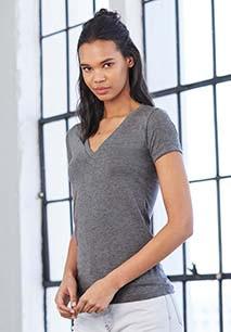 TRIBLEND DEEP V-NECK T-SHIRT T-shirt de senhora TRIBLEND com decote em V