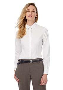 Camisa de senhora stretch de manga comprida Black Tie