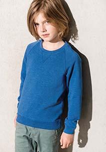 Sweatshirt bio de criança com mangas raglan