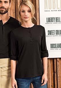 """T-shirt de senhora com mangas dobráveis """"Long John"""""""