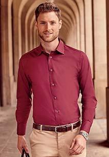 Camisa justa de manga comprida