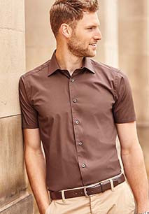 Camisa justa de manga curta