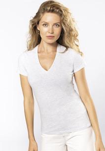 T-shirt BIO150 de senhora decote V