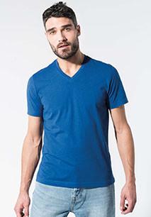 T-shirt de homem em algodão biológico com decote V
