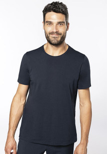 T-shirt Bio com decote sem costuras manga curta