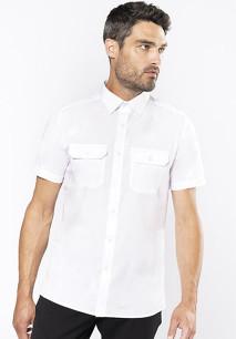 Camisa piloto de homem de manga curta