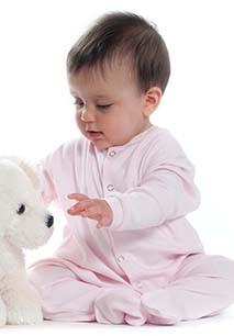 Pijama de bebé com molas de pressão