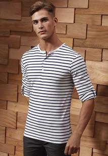 """T-shirt de homem com mangas dobráveis """"Long John"""""""