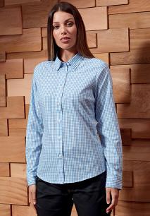 Camisa vichy com quadrados grandes