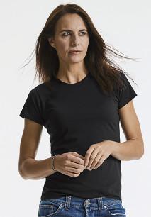 T-shirt HD sublimável de senhora com decote redondo