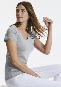 T-shirt HD sublimável de senhora com decote V