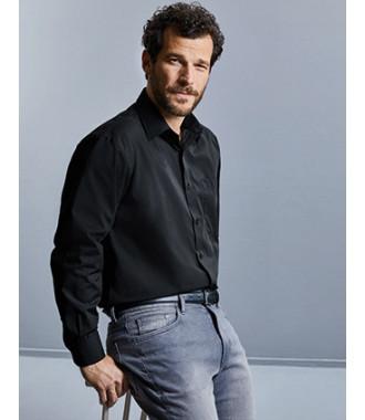 Camisa de homem em popeline de manga comprida