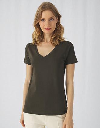 T-shirt Organic Inspire de senhora com decote em V
