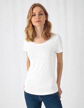 T-shirt Organic Inspire de senhora Slub