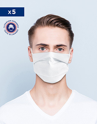 Máscara comunitária norma Afnor UNS1 - Lavável e reutilizável com faixa nasal