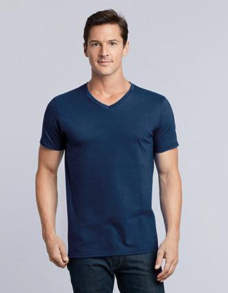 SOFT STYLE ADULT V-NECK T-SHIRT T-shirt de homem com decote em V