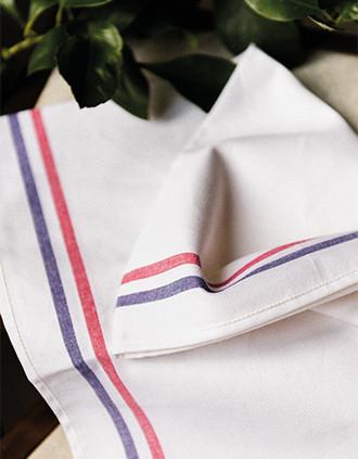 Pano de cozinha com 2 riscas Origine France Garantie