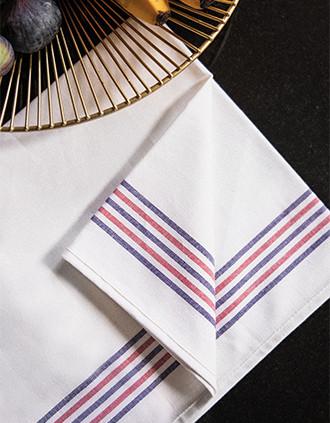 Pano de cozinha com 5 riscas Origine France Garantie