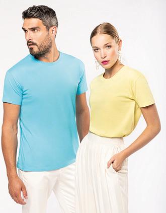 T-shirt com decote redondo Bio190