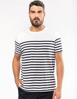 T-shirt estilo marinheiro Bio com decote redondo para homem