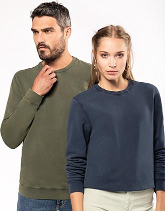 Sweatshirt com decote redondo