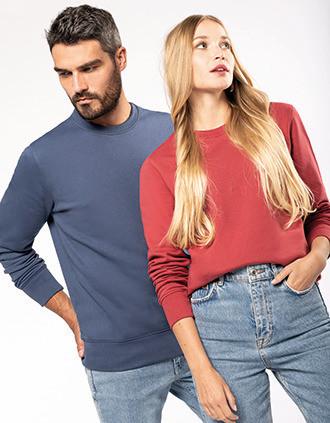 Sweatshirt eco-responsável com decote redondo
