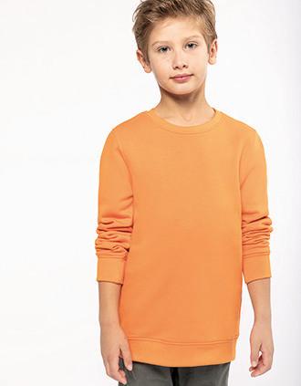 Sweatshirt eco-responsável com decote redondo de criança