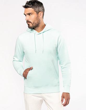 Sweatshirt eco-responsável com capuz de homem