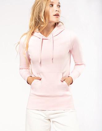Sweatshirt eco-responsável com capuz de senhora