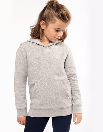 Sweatshirt eco-responsável com capuz de criança