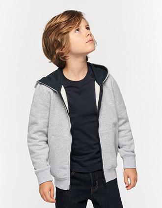Sweatshirt de criança com capuz e fecho