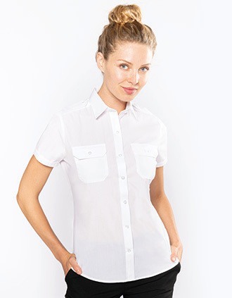 Camisa piloto de senhora de manga curta