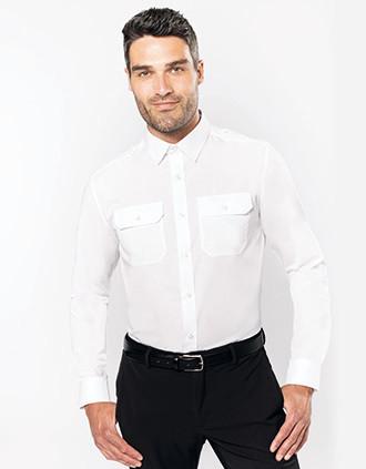 Camisa piloto de homem de manga comprida