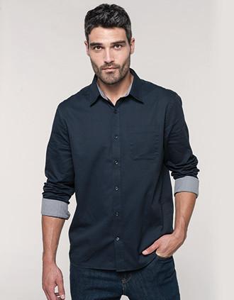 Camisa Nevada de homem de manga comprida