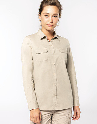 Camisa Safari de senhora manga comprida