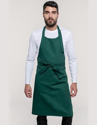 Avental de algodão sem bolso