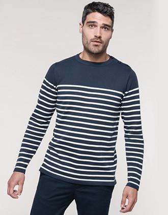 Camisola estilo marinheiro de homem