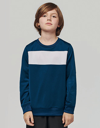 Sweatshirt de criança em poliéster