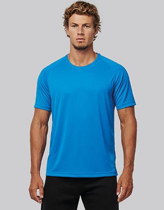 T-shirt de desporto de homem de material reciclado com decote redondo