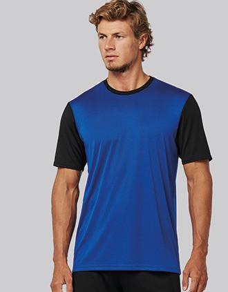 T-shirt bicolor de manga curta para adulto