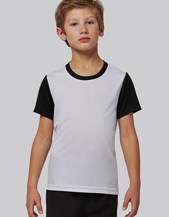T-shirt bicolor de manga curta de criança