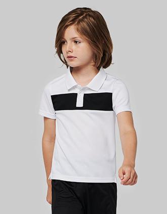 Polo manga curta de criança
